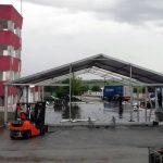 Covid-19: Hospital de Campanha está a ser montado em Sousel para acolher dezenas de pessoas