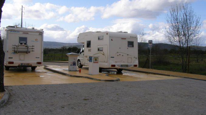 Área de serviço de autocaravanas