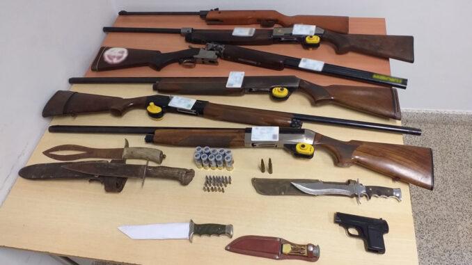 armamento apreendido em Évora
