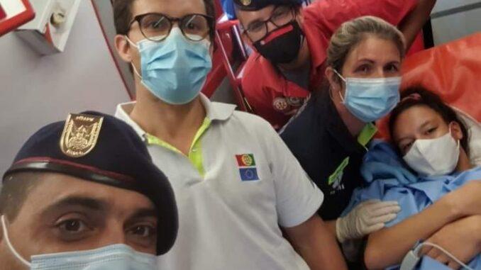 Parto na ambulancia dos Bombeiros Mistos do Torrão