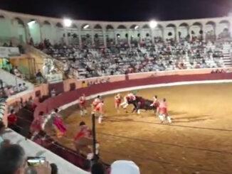 Forcado ferido em tourada em Reguengos de Monsaraz