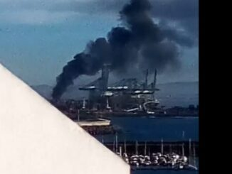 Incendio Porto de Sines