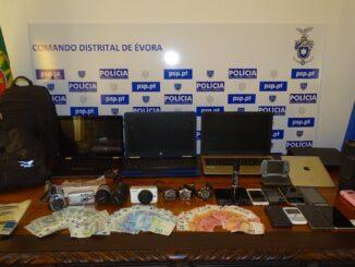 Apreensão da PSP em Évora