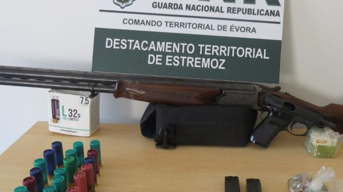 Apreensão de armas em Estremoz