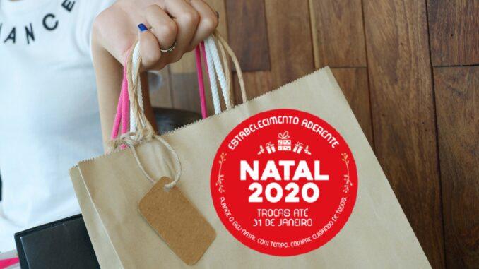 Troca de compras de natal