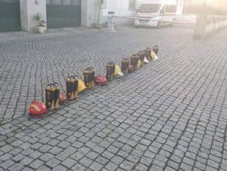 Bombeiros de Évora em Protesto