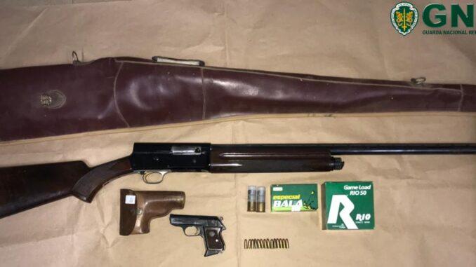 Armas apreendidas em Odemira