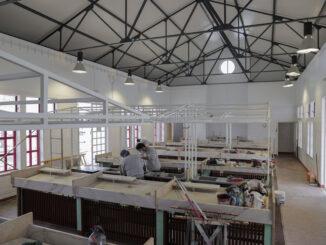 Obras no mercado municipal do Torrão