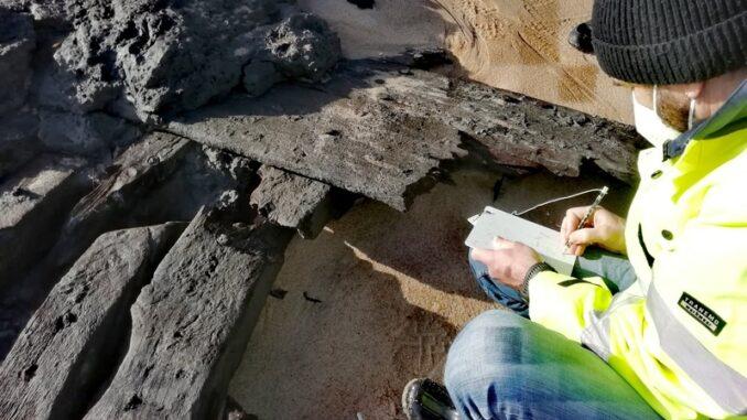 Navio encontrado em Melides