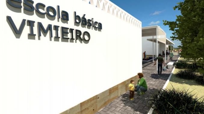 Obras na escola do Vimieiro