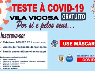 Testes covid em Vila Viçosa
