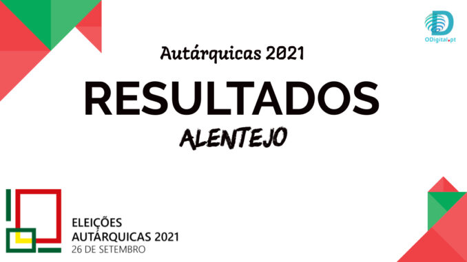 Autárquicas 2021 resultados alentejo
